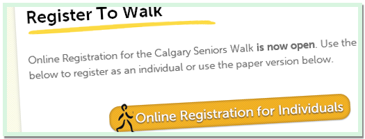 Calgary Seniors Walk - Online Registration