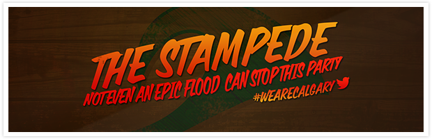 The Stampede… It'll take more than an epic flood to stop this party
