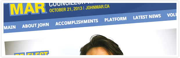 Johnmar.ca | On The Campaign Trail